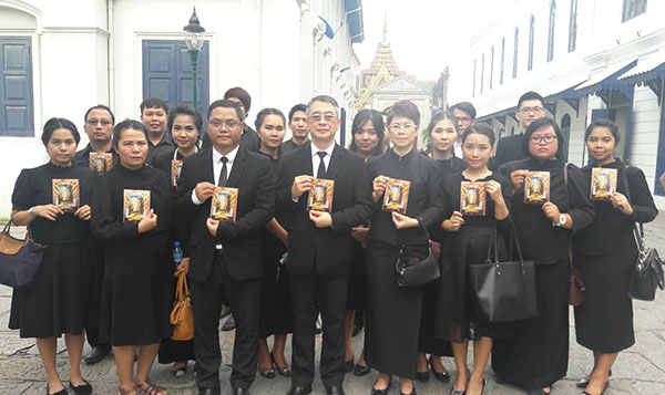 Professional One's Executive Board and Staff Paid Respects to His Majesty King Bhumibol Adulyadej