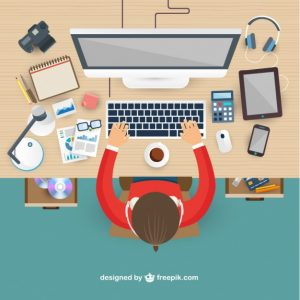 workplace-in-top-view_23-2147510810
